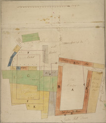 [Plan of Leadenhall Market and the East India Warhouse]